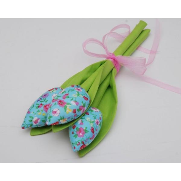Букет текстилни лалета