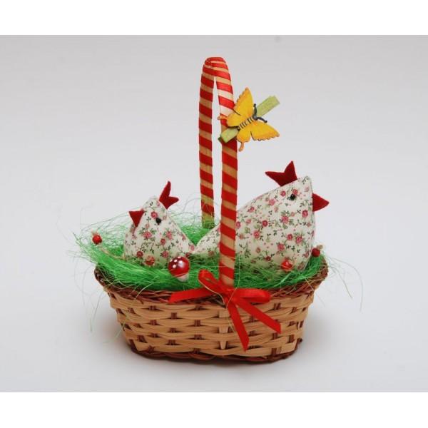 Великденска кошница с пиленца