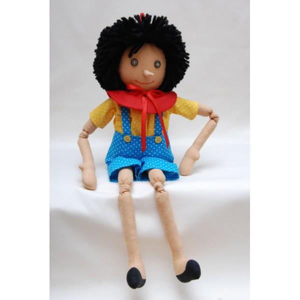 Пинокио-текстилна кукла