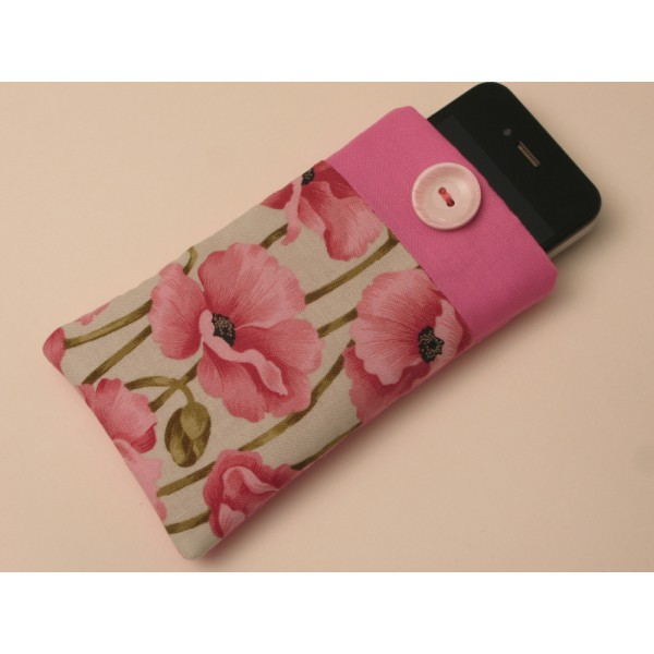 """Калъф за iPhone  """"Розови макове"""""""
